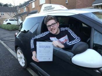 "Hi kess thanks  to  Eamon for helping me pass first time, great instructor, great lessons and all round great driving school"" thanks again."