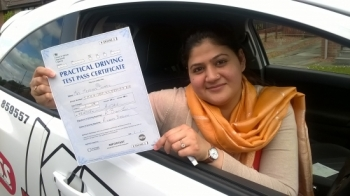 What an achievement moved to Britain only a year ago started lesson and with in seven months passed the Theory and Driving test both first time<br />